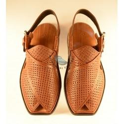 A/C Hand Made Peshawari Chappal - Maroonish Brown